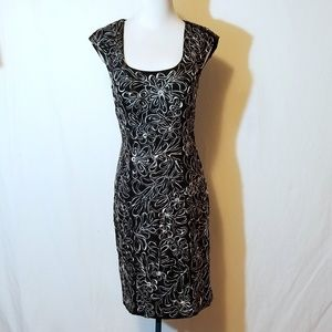 Sue Wong Floral Ribbon Dress Style C4130 NWT Sz 6